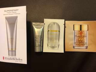 Elizabeth Arden SUPERSTART Probiotic Cleanser 潔顏霜 5ml + Skin Renewal Booster 活妍精華 1ml + Advanced Ceramide Capsules Daily Youth Restoring Eye Serum 眼部膠囊 (2粒)