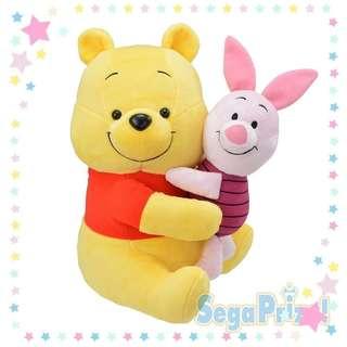 【Toreba】日本正版景品 小熊維尼抱小豬娃娃