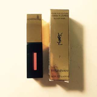 YSL Vernis A Levres Glossy Stain #7 Lip Gloss
