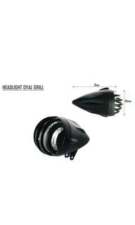 Motorbike/ Caferacer Headlight/ Lamp Oval Grill