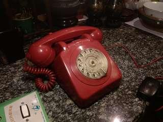 1983~H.K.TEL.Co 香港電話公司 攪盤電話(罕有紅色)