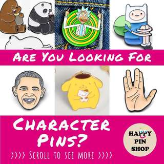 TV, Movie, Cartoon Character pins Sourcing Service