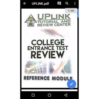 UPLINK reviewer (UPCAT, ACET, USTET, DCAT, PUPCET etc)