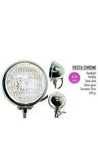 Motorbike/ Caferacer Headlight/ Lamp Fiesta Chrome
