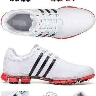 🚚 golf高爾夫球用品 愛迪達Adidas男真皮帶釘防水透氣球鞋