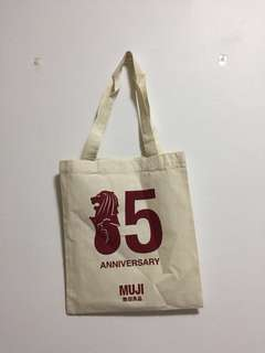Limited Edition Muji's 15th Anniversary Tote Bag