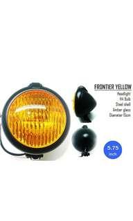 Motorbike/ Caferacer Headlight/ Lamp Frontier Yellow