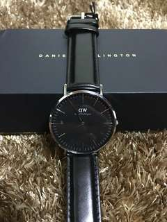 Daniel Wellington Leather Watch Black 40mm