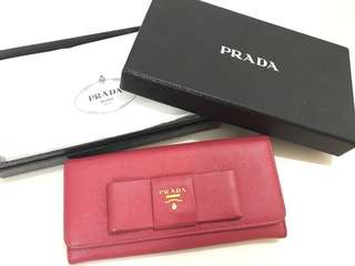 Prada Wallet 銀包 pink miu miu ribbon 蝴蝶結 鞋 heels