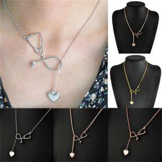 BN Medical Doctor Nurse Heart Charm Pendant Chain Necklace [MJN39]