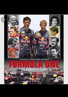 New and Sealed Hardcover Book,  Formula One The Complete Story, Classic Rare and Unseen. 336 pages