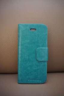 iPhone SE / 5S 電話皮套電話殻 | Leather Phone Case | 湖水綠