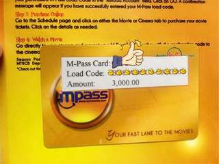 M Pass/Sureseats Load (Movie) Php3000