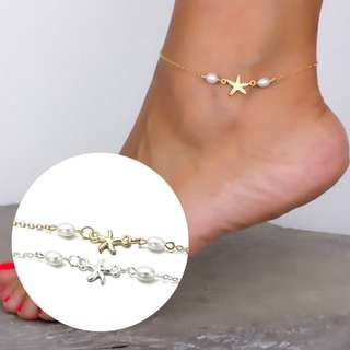 BN Exquisite Gold Plated Starfish Ankle Chain Anklet [MJN48]