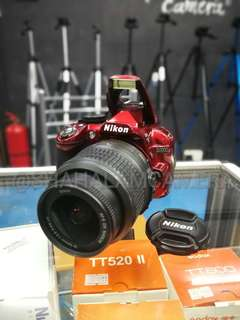 (USED) NIKON D3100 SPECIAL RED EDITION + 18-55MM VR LENS