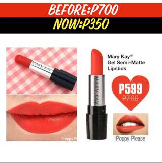 Poppy Please Mary Kay Gel Semi-Matte Lipstick