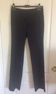 Basic black mid-rise trousers