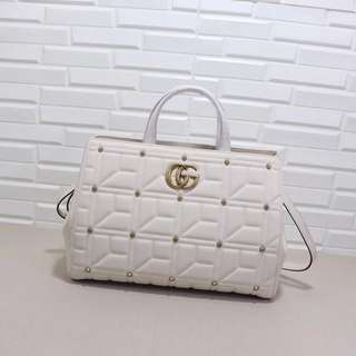 Gucci marmont medium top handle bag