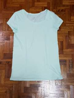 Justice Plain Mint Green Shirt