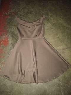 Off shoulder semiformal dress