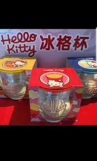 Hello kitty glass cup and ice cube maker