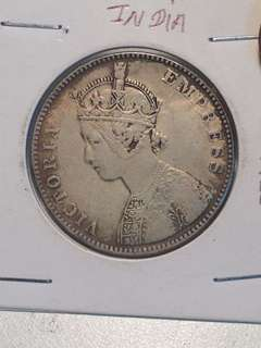India one rupee 1879
