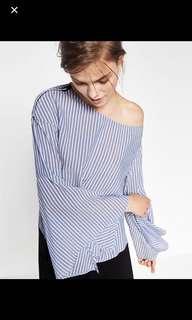 Zara Stripes Off Shoulder