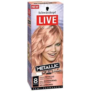 schwarzkopf hair dye semi permanent (cotton candy pink / rose gold / cool grey)