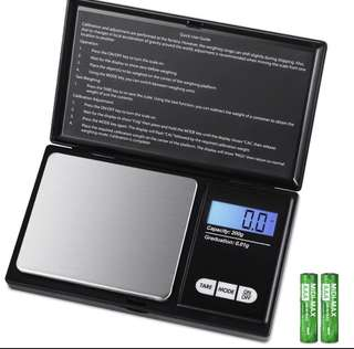 Stylist Portable Mini Jewelry Gold Digital gram Scale Digital LCD Electronic Kitchen Cooking Food Weighing Scales Weigh Gram Pocket Grams Weight Food Jewelry Medicine Tea Black