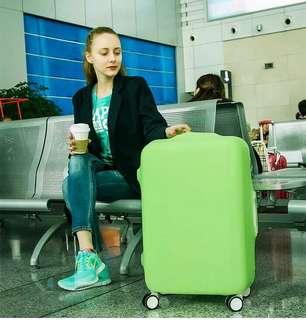 Pelindung koper, elastic luggage cover, sarung bagasi warna warni (L)