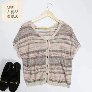 🚚 ✚shuca✚粉灰色系針織罩衫