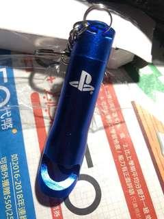 playstation lighter matellic blue 電筒匙扣