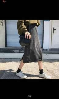 🚚 高腰開衩長裙
