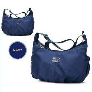 Waterproof nylon shoulder bag, tas selempang CS-020 Ol - navy