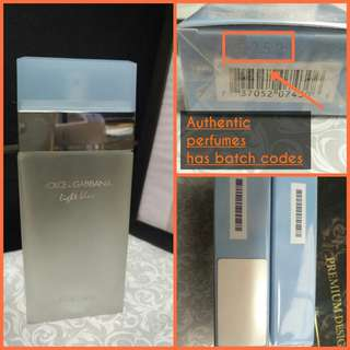 How to spot Authentic Dolce & Gabbana Gucci Givenchy etc perfume