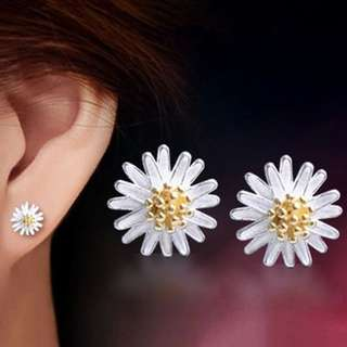 BN Earrings Stud Ear Cuff Silver Plated Daisy Flower Earring [MJN69]
