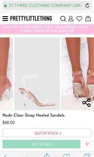 PLT Clear Heels