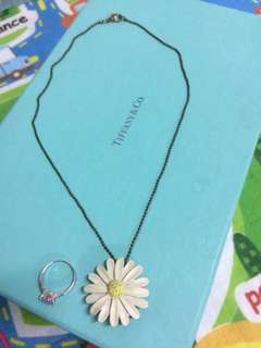 Daisy Pendant with necklace