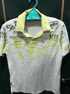 🚚 Edwin logo圖騰polo衫,M,肩44、長67cm,9成新