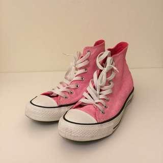 Converse 螢光粉高筒運動鞋