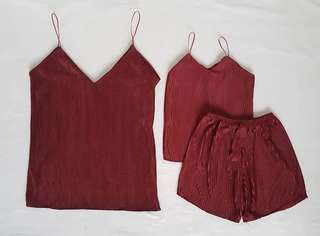 Mom&Daughter Cami Pleated set
