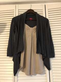 Brand NEW Aritzia Talula Top and Jacket Set / size xxs