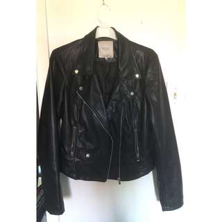 ZARA leather jacket medium