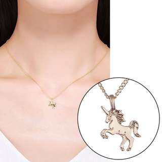 BN Fashion Cartoon Unicorn Pendant Necklace Elegant Chain [MJN79]