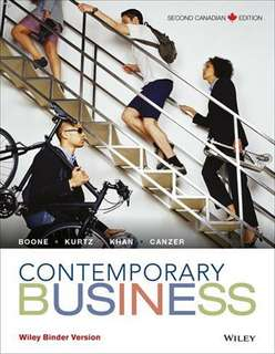 Contemporary business textbook 2nd canadian edition