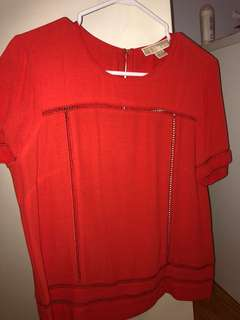 Michael Kors blouse in red size small