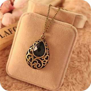 BN Retro Pendant Bib Crystal Collar Choker Chain Necklace [MJN91]
