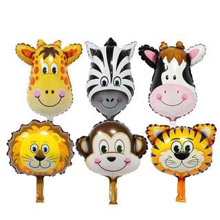 Animal Head Foil Inflated Balloons