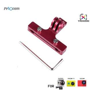 Proocam Pro-F178 Steel Aluminium Bicycle Saddle Clamp Mount for Gopro Hero ( BLACK OR RED)