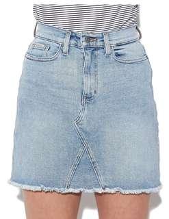 Calvin Klein A Line Jean Skirt